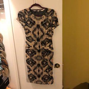 Nine West Short Sleeve Sheath dress(wrap illusion)